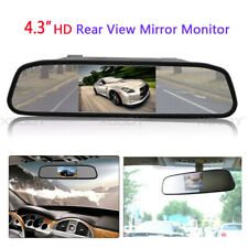 "4.3"" LCD Mirror Screen Monitor For Car Rear View Backup Camera Reverse Parking"