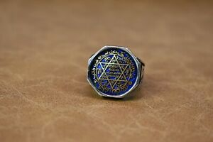 Seal Of Solomon Ring  Turkish Handmade Ottoman Style 925 Sterling Men Size 10