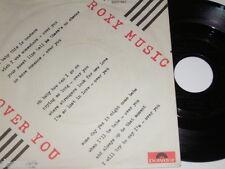 "7"" - Roxy Music - Over you & Manifesto - Black Label 1980 # 3860"
