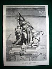 Milano 1895, La Rivoluzione sul monumento di Garibaldi, gruppo di E. Ximenes