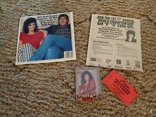 Rare Lot Marie Osmond Signed Card Misprint Concert Flyer Ticket Bar B Q Cook Off