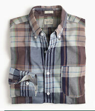 NEW J Crew Slim Madras Shirt L Men's Plaid G4186