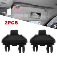 2Pcs Audi A4 TT A3/A4/A5 Sun Visor Hook Clip Black Left Right Bracket 8W0857562A