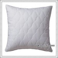 White 100% Cotton Cover Quilted European Pillow Protector with Zip Closure