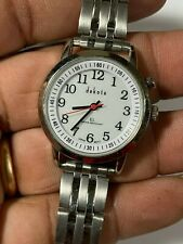 Ladies Silver Tone Dakota EL Analog Watch