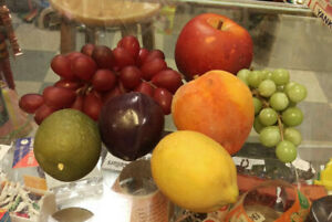 Assorted Fake Fruits Realistic Artificial Faux  Grapes, Plum, Lime, Lemon & more