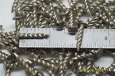 """TWIST NAIL CHROME PLATED BRASS SLOTTED PAN HEAD SCREW-NAIL 1"""" LOT OF 25"""