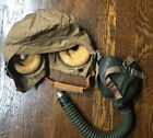 WW2 US Army Air Force AAF AN-H-15 Canvas Flight Helmet with oxygen mask large