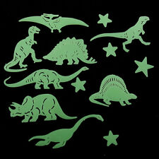 Fun Glow in the Dark set of 14 dinosaurs and stars - 3-13cm stocking filler toy