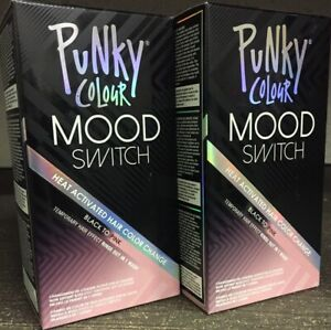 Punky Colour Black To Pink Mood Switch Heat Activated Hair Color Change 2 Pack