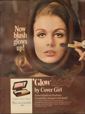 1967 Vintage ad for Cover Girl 'Glow lightly' retro make-up Pretty Model