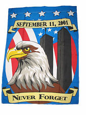 28 x 40 inch NEVER FORGET 9-11 GARDEN FLAG SEPTEMBER 11 911 USA 28x40 INCHES