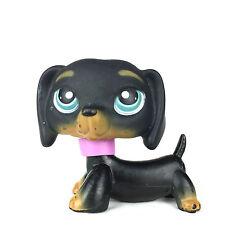 Authentic Littlest Pet Shop 325 Dog Dachshund / Chien Teckel LPS Hasbro Black.