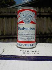 BUDWEISER TAB TOP NEWARK 5 CITY LINES UNEVEN VAR #1 VIRGINIA STAMP OLD BEER CAN