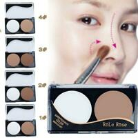 Nose 2 Shades Matte Blusher Pressed Powder Non Shiny Shadow Contour Highlight DI