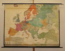 Schulwandkarte Europe Barock Baroque 17century 197x154 1955 Louis XIV 30jä Krieg