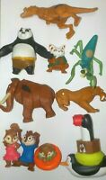 McDonalds Happy Meal Toys lot of 7, inc Kung Fu Panda, Ice Age, Croods & extras