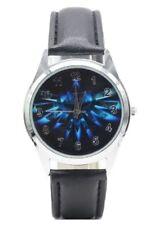 Zelda Blue Triforce Logo Genuine Leather Band WRIST Watch