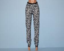 Black & White Soft Leggings Pants w/ Abstract Print Genuine Barbie Fashion 00004000