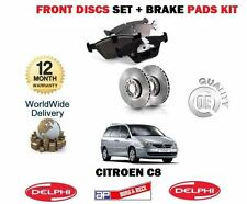 FOR CITROEN C8  2.0 2.0 HDi 2.2 HDi 2003-> FRONT BRAKES DISCS SET + DISC PAD KIT