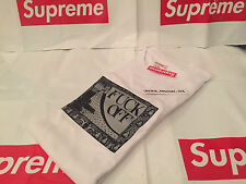 SUPREME F**K OFF TEE LARGE L BOX LOGO WHITE SS16 T-SHIRT 2016