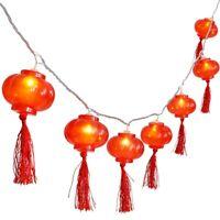 Traditional Red Lantern USB LED Light String Christmas Battery Operated Par V2Z4
