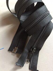 Long NYLON Zipper Open Black Single Slider 100cm Opti