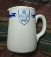 Vintage blue and withe toronto university cream cup server made in england