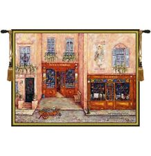 "CITYSCAPE PICTURE TAPESTRY TERRACE SAGOT TERRASSE PARIS VIEW 53""x70"""