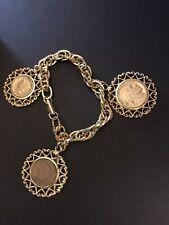 Bracelet 7.5 Inch Vintage Wlp Coin