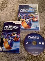 DREAMWORKS Turbo: Super Stunt Squad (Nintendo Wii, 2013) GAME COMPLETE w/MANUAL
