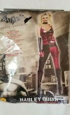 Batman Arkham City Womens Harley Quinn Sexy Corset & Pants Costume Size Small