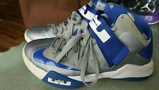 Nike LeBron James Zoom XI 6 Zoom Soldier Silver Mens size 8.5 Blue vtg