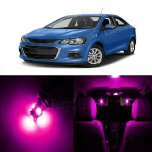 13 x Pink LED Interior Light Kit For 2012 - 2017 Chevrolet Chevy Sonic + TOOL