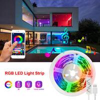 1M-5M LED Strip 5050 RGB Tape Under Cabinet Kitchen Lights Colour Changing App