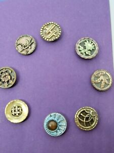 Small lot antique metal buttons #4