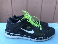RARE🔥 Nike Free 5.0 TR Fit 4 8.5 Print Gradient Black Multi 629832-002 A2