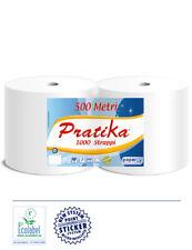 2 x Putzpapier Putztuchrolle Industriepapier Putzrolle 1000 Blatt weiß saugstark