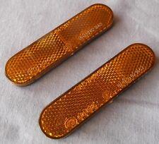 Ricambi Europa Universal Self Adhesive Amber Reflector Pair 94x22mm 2820/843003