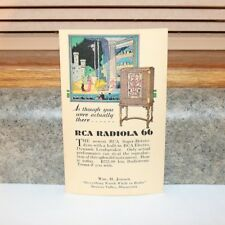 RCA Radiola 66 Radio Post Card- Unused -Browns Valley MN
