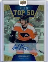 2019-20 UPPER DECK .ALLURE JOEL FARABEE  TOP 50  AUTO FLYERS RC HOT !!