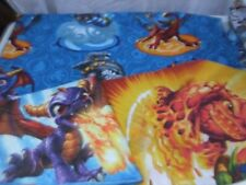 Skylander Giants 1 Twin FLAT Bed Sheet 2 Different Pillowcases Poly Cotton Franc