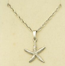 Nautical Starfish Pendant Necklace Sterling Silver