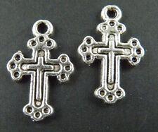 100pcs Tibetan Silver Cross Charms 18.5x12x1mm 172