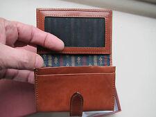 Piquadro Tamponato tan leather card case PP803