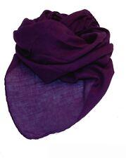 Foulard Bandana Coton unicolore einfarbigdunkel Violet env. 95 x 9