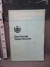 HANDEL OPERA SOCIETY pamphlet Sadler's Wells Theatre 1966 program schedule