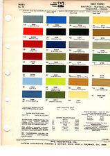 1972 FORD MUSTANG RANCHERO TORINO PINTO GALAXIE MAVERICK 72 PAINT CHIP DITZLER 3