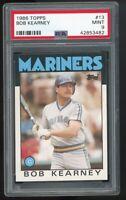 1986 Topps #13 Bob Kearney Seattle Mariners PSA 9 MINT SET BREAK!
