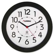 "Lorell 9"" Radio Controlled Profile Wall Clock, Black - LLR60990"